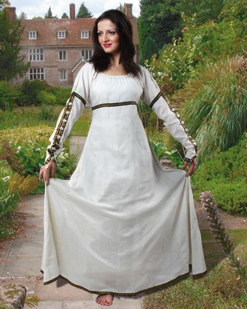 Arabella Cotton Dress Renaissance Dress Medieval Events Clothes