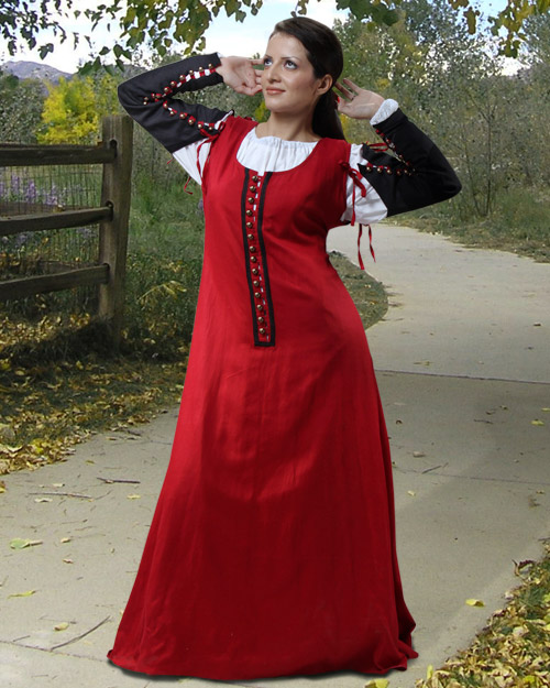Adora Dress Medieval Clothing Renaissance Dress :  pants clothing armor skirts