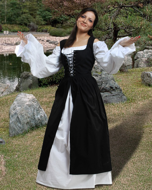 Ameline renaissance dresses costumes clothing gowns fashion :  male wench shirts swords