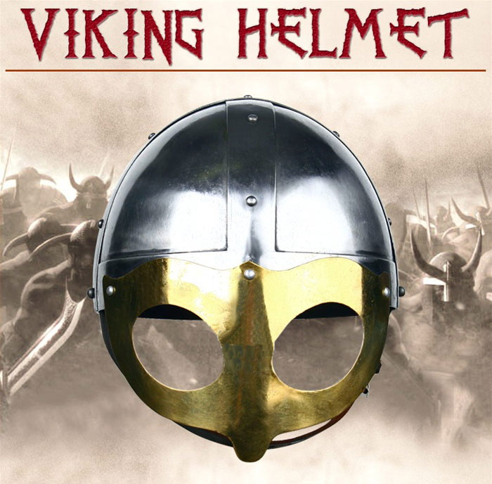 Medieval Viking Warriors Steel Helmet w/ Chin Strap
