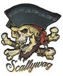 Scallywag Pirate T-shirt (White)