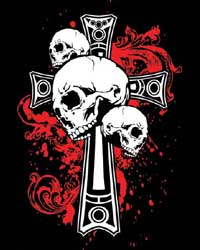 Bloody Cross & Skull T-shirt (Black)