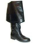 Leather Bell Cuff Renaissance Style Boots