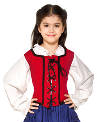 Girls Reversible Wench Bodice (Decorated)