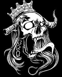 Screaming Royal Skull T-shirt (Black)