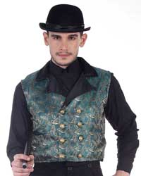 Brocade Double-Breasted Vest